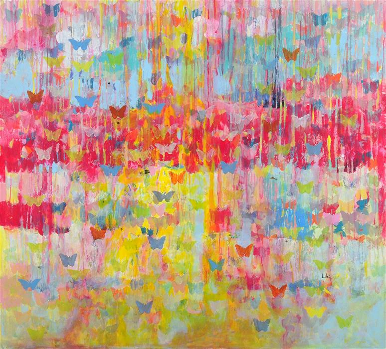 Original art for sale at UGallery.com | Mika by LILAC ABRAMSKY-ARAZI | $2,475 | Acrylic painting | 43.25' h x 47.25' w | http://www.ugallery.com/acrylic-painting-mika