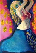 Expressionism art,People art,Fashion art,Representational art,oil painting,Dancing Figure