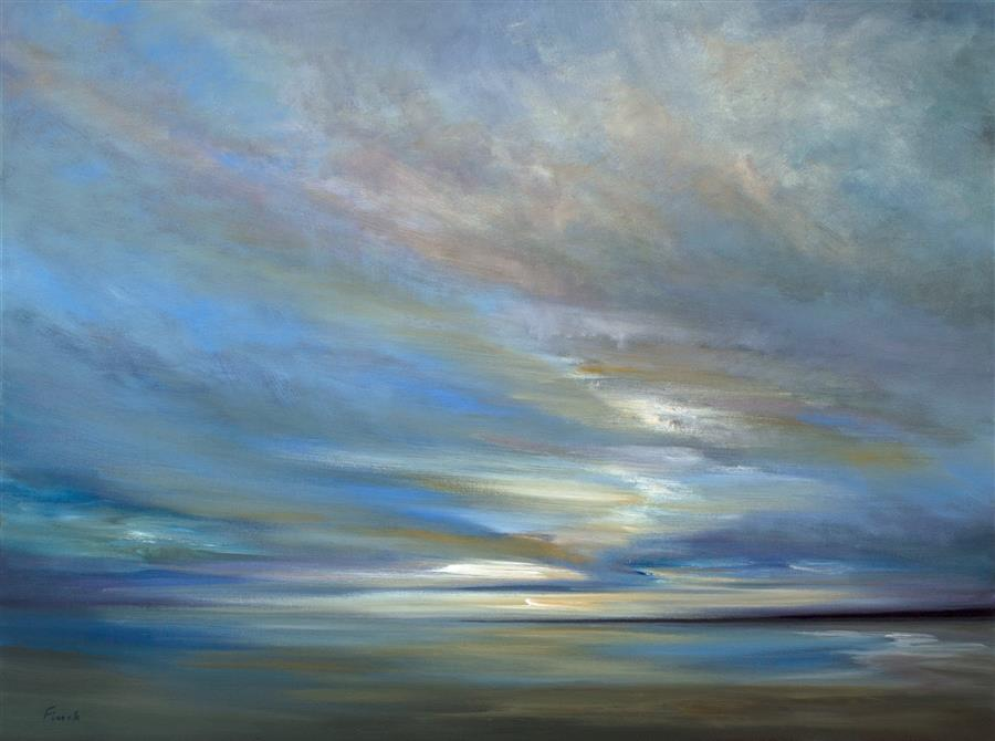 Original art for sale at UGallery.com | Coastal Clouds XIV by SHEILA FINCH | $4,375 | Oil painting | 30' h x 40' w | http://www.ugallery.com/oil-painting-coastal-clouds-xiv