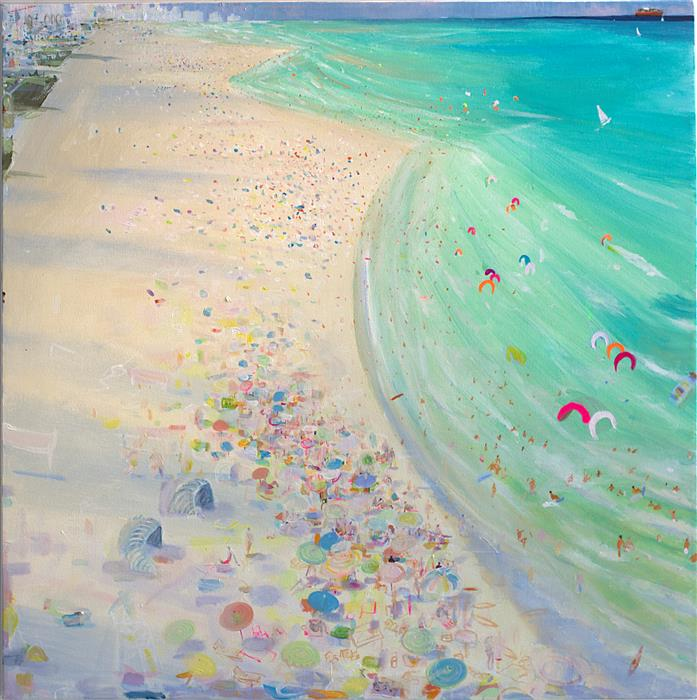 Original art for sale at UGallery.com | White Beach by JOE DAVIS | $2,600 | Acrylic painting | 30' h x 30' w | http://www.ugallery.com/acrylic-painting-white-beach