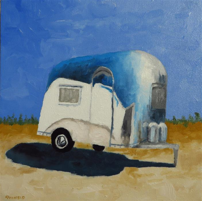 Original art for sale at UGallery.com | Air Stream 6 by MITCHELL FREIFELD | $375 | Oil painting | 14' h x 14' w | http://www.ugallery.com/oil-painting-air-stream-6