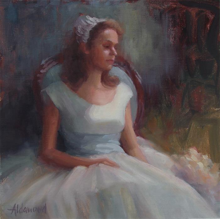 Original art for sale at UGallery.com | Vintage Bridesmaid by SHERRI ALDAWOOD | $500 | Oil painting | 12' h x 12' w | http://www.ugallery.com/oil-painting-vintage-bridesmaid