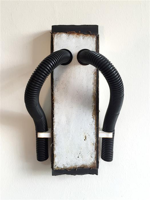 Original art for sale at UGallery.com | Respiratory Tubes by DANIIL ALIKOV | $650 | Mixed media artwork | 12.2' h x 7.2' w | http://www.ugallery.com/mixed-media-artwork-respiratory-tubes
