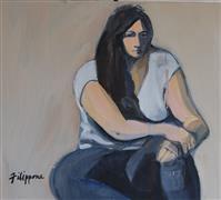 Expressionism art,People art,Representational art,mixed media artwork,#323FS Jen