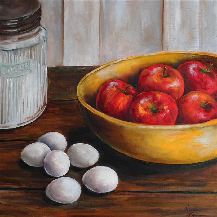 Discover Original Art by Kristine Kainer | Baking Day oil painting | Art for Sale Online at UGallery