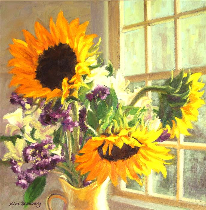 Discover Original Art by Kim Stenberg | Twelve Square Inches of Sunshine oil painting | Art for Sale Online at UGallery
