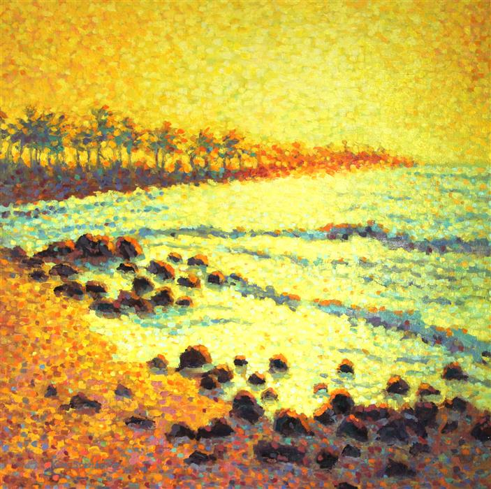 Original art for sale at UGallery.com | Kauai Sunrise by KIM STENBERG | $2,600 | Oil painting | 24' h x 24' w | http://www.ugallery.com/oil-painting-kauai-sunrise