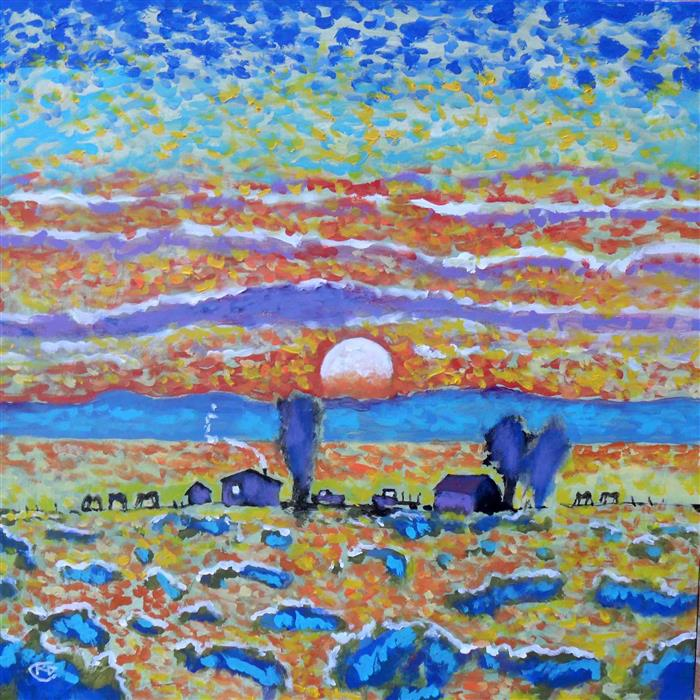 Original art for sale at UGallery.com | Singing Skies by KIP DECKER | $1,725 | Acrylic painting | 30' h x 30' w | http://www.ugallery.com/acrylic-painting-singing-skies