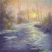Impressionism art,Landscape art,Nature art,Representational art,oil painting,The Warmth of Winter