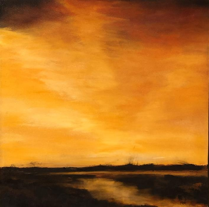Original art for sale at UGallery.com | Distant Light II by MANDY MAIN | $1,300 | Oil painting | 30' h x 30' w | http://www.ugallery.com/oil-painting-distant-light-ii