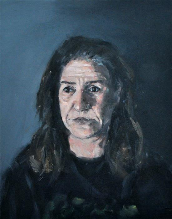 Original art for sale at UGallery.com | Weary Mother by DIMITRIS ANGELOPOULOS | $700 | Oil painting | 15.74' h x 11.81' w | http://www.ugallery.com/oil-painting-weary-mother