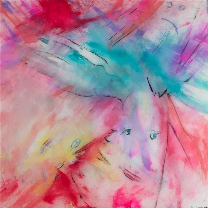 Original art for sale at UGallery.com | Another Point of View by J.  CONCETTA | $325 | Mixed media artwork | 12' h x 12' w | http://www.ugallery.com/mixed-media-artwork-another-point-of-view