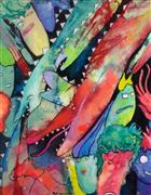 Fantasy art,Animals art,Street Art art,Representational art,mixed media artwork,Red Dragon