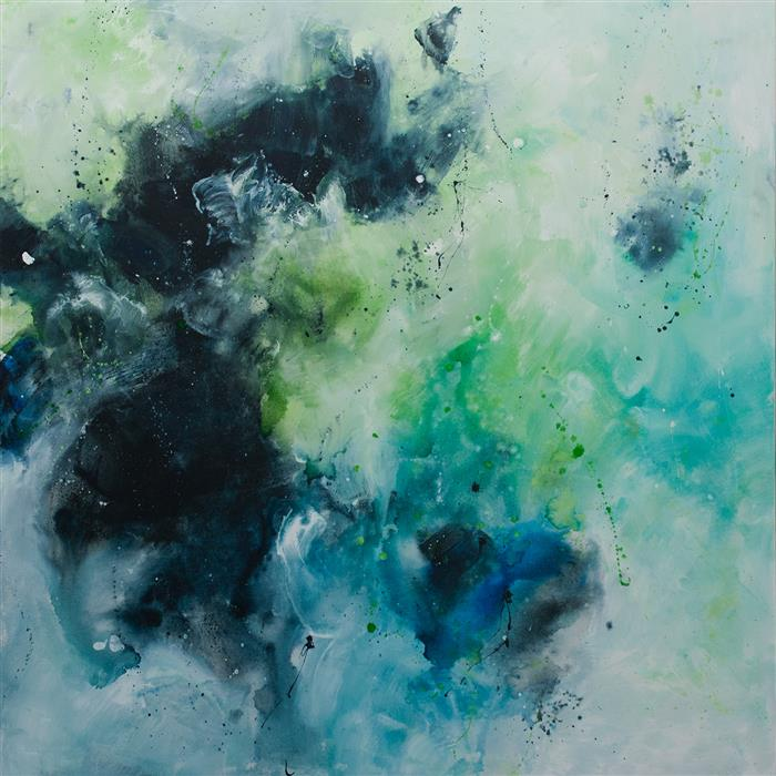 Original art for sale at UGallery.com | I Am Abundance, I Am a Touch, I Am a Light, Call Me a Sea - I Am a Woman by ELENA PETROVA | $4,150 | Acrylic painting | 48' h x 48' w | http://www.ugallery.com/acrylic-painting-i-am-abundance-i-am-a-touch-i-am-a-light-call-me-a-sea-i-am-a-woman