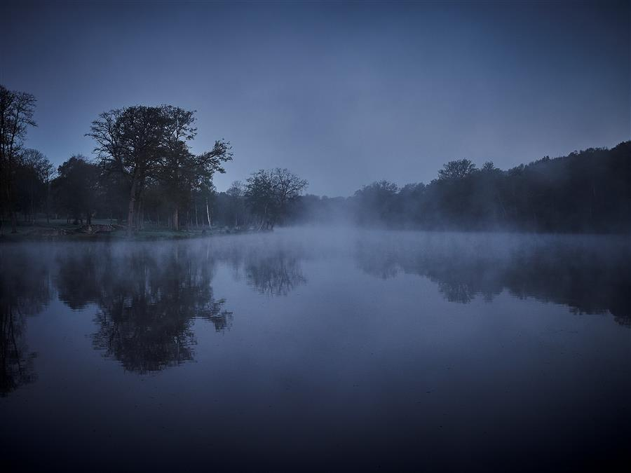 Original art for sale at UGallery.com | Morning Lake by KATHLEEN FINLAY | $355 |  | ' h x ' w | http://www.ugallery.com/photography-morning-lake