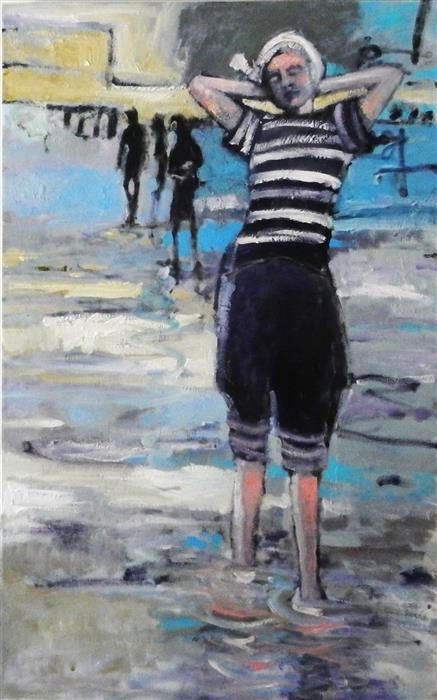 Discover Original Art by Mary Pratt | Water Baby oil painting | Art for Sale Online at UGallery