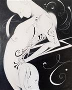 Fantasy art,Nudes art,Representational art,oil painting,Scrollwork