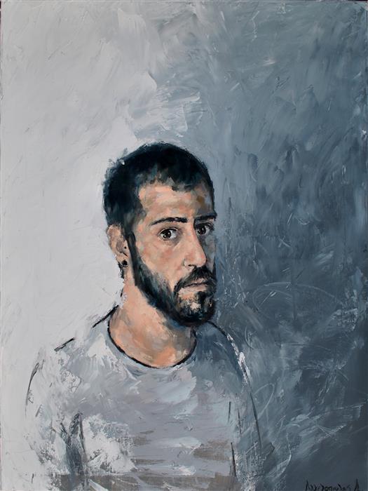 Original art for sale at UGallery.com | El Dim Self Portrait by DIMITRIS ANGELOPOULOS | $900 | Oil painting | 31.49' h x 23.62' w | http://www.ugallery.com/oil-painting-el-dim-self-portrait