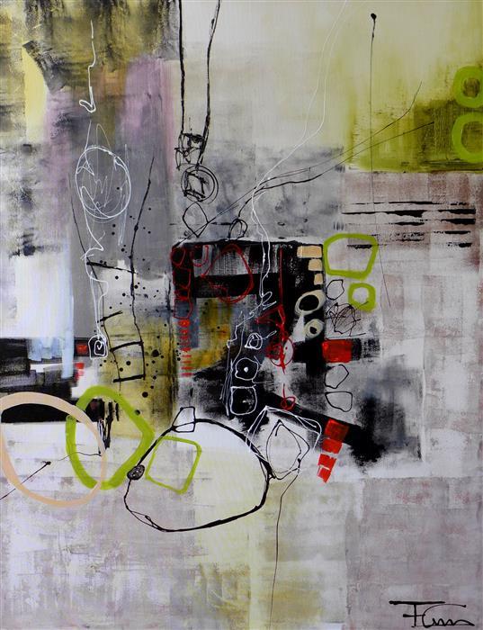 Original art for sale at UGallery.com | Dream Catcher by FERNANDO GARCIA | $2,975 | Acrylic painting | 48' h x 36' w | http://www.ugallery.com/acrylic-painting-dream-catcher-46884