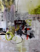 Abstract art,Non-representational art,Modern  art,acrylic painting,Dream Catcher