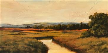 Impressionism art,Landscape art,Nature art,Classical art,Representational art,oil painting,Sanctuary XI
