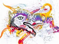 Fantasy art,Street Art art,Representational art,acrylic painting,Dragon Eye