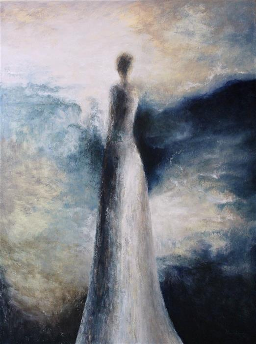 Original art for sale at UGallery.com | Who Are These Angels XCVI by NAOKO PALUSZAK | $4,150 | Oil painting | 48' h x 36' w | http://www.ugallery.com/oil-painting-who-are-these-angels-xcvi