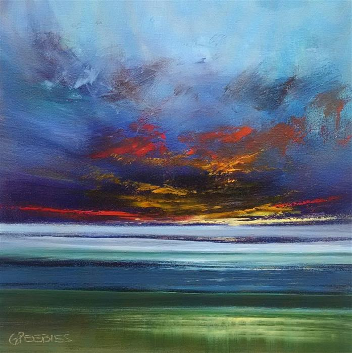Discover Original Art by George Peebles | Sunset oil painting | Art for Sale Online at UGallery