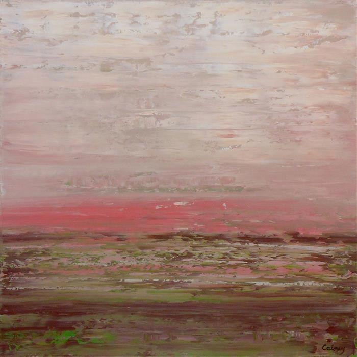 Original art for sale at UGallery.com | Pink Dusk by LISA CARNEY | $1,025 | Acrylic painting | 30' h x 30' w | http://www.ugallery.com/acrylic-painting-pink-dusk