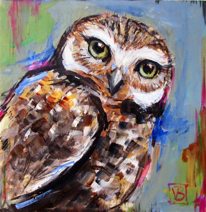 Discover Original Art by Victoria Bearden | Burrowing Owl acrylic painting | Art for Sale Online at UGallery