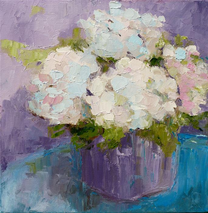 Discover Original Art by Judy Mackey | Hydrangeas oil painting | Art for Sale Online at UGallery