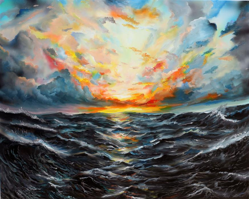 Discover Original Art by Piero Manrique   Sunrise acrylic painting   Art for Sale Online at UGallery