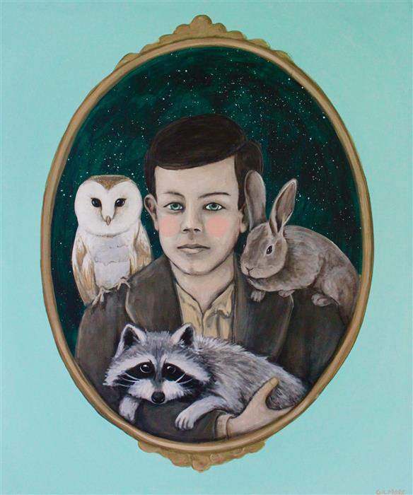 Discover Original Art by Shawna Gilmore | A Boy and His Critters acrylic painting | Art for Sale Online at UGallery