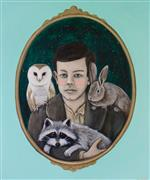 Fantasy art,Animals art,People art,Representational art,acrylic painting,A Boy and His Critters