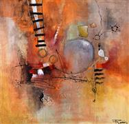 Abstract art,Non-representational art,Modern  art,mixed media artwork,Dream Catcher Series