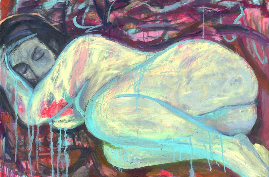 Original art for sale at UGallery.com | Slumber by PETR LDIN | $1,525 | Oil painting | 23.6' h x 31.4' w | http://www.ugallery.com/oil-painting-slumber
