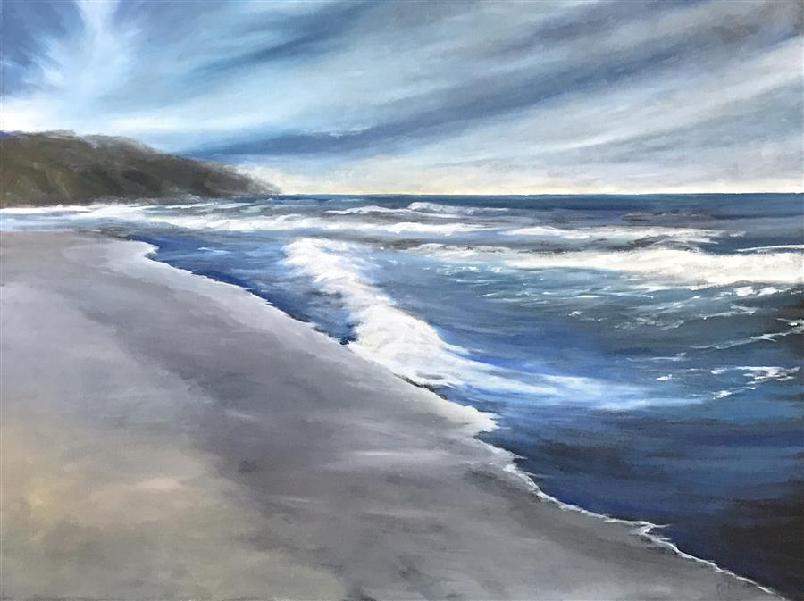 Original art for sale at UGallery.com | Coast XVI by MANDY MAIN | $2,475 | Oil painting | 36' h x 48' w | http://www.ugallery.com/oil-painting-coast-xvi