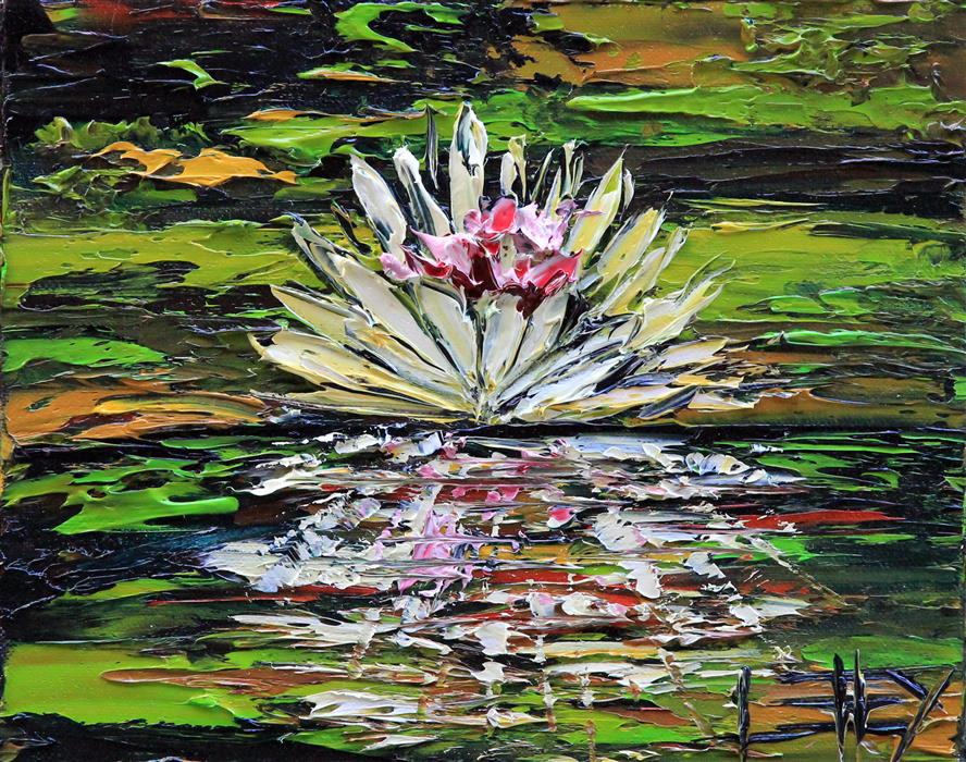 Original art for sale at UGallery.com | Monet's Dream by LISA ELLEY | $275 | Oil painting | 8' h x 10' w | http://www.ugallery.com/oil-painting-monet-s-dream