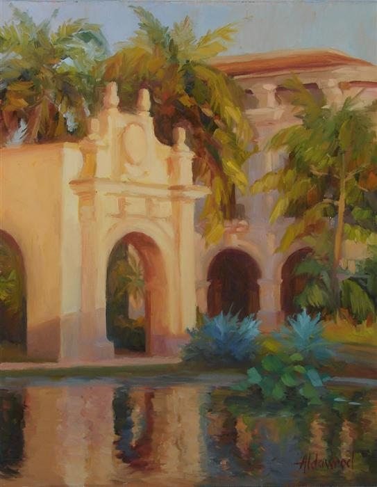 Original art for sale at UGallery.com | San Diego Evening by SHERRI ALDAWOOD | $500 | Oil painting | 14' h x 11' w | http://www.ugallery.com/oil-painting-san-diego-evening