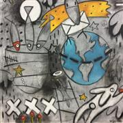 Expressionism art,Animals art,Street Art art,Representational art,mixed media artwork,Peace on Earth