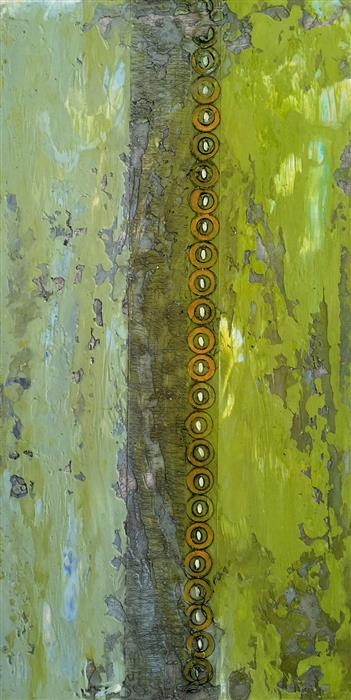 Original art for sale at UGallery.com | Line Up by ANNIE DARLING | $1,300 | Encaustic artwork | 24' h x 12' w | http://www.ugallery.com/encaustic-artwork-line-up