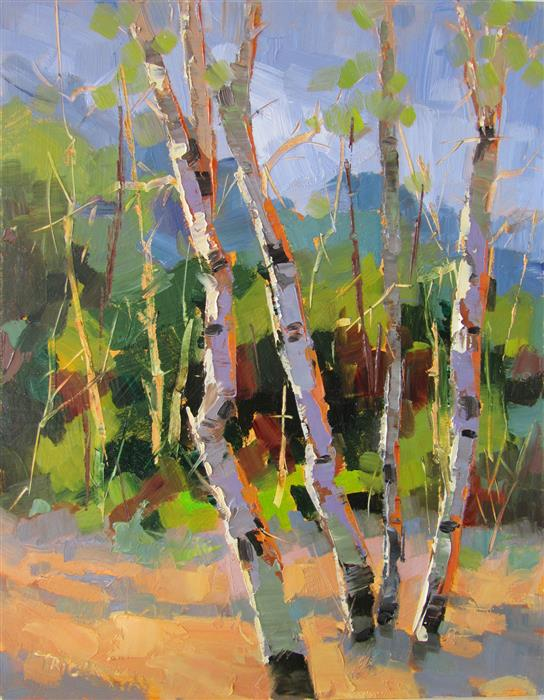 Original art for sale at UGallery.com | By the Creek by TRICIA MAY | $425 | Oil painting | 14' h x 11' w | http://www.ugallery.com/oil-painting-by-the-creek