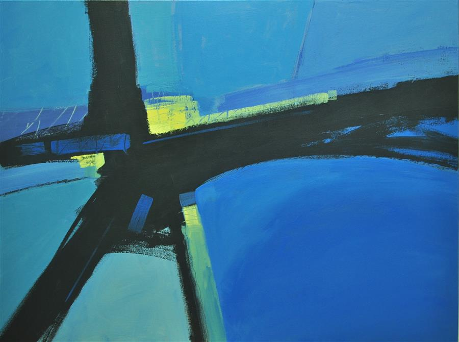 Discover Original Art by Robert Pennor | Bridge acrylic painting | Art for Sale Online at UGallery