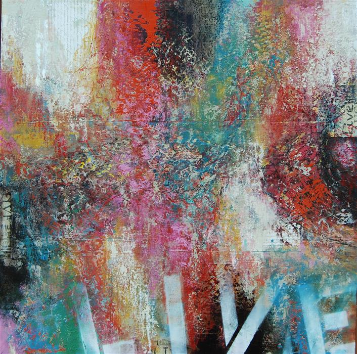 Original art for sale at UGallery.com | Live by JANET HAMILTON | $2,575 | Oil painting | 36' h x 36' w | http://www.ugallery.com/oil-painting-live