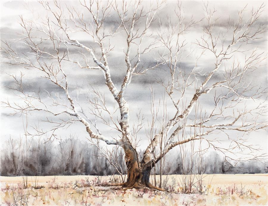Original art for sale at UGallery.com | Aging with Dignity by JILL E. POYERD | $1,800 | Watercolor painting | 20' h x 26' w | http://www.ugallery.com/watercolor-painting-aging-with-dignity