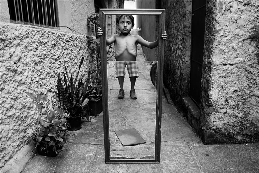 Original art for sale at UGallery.com | Boy With Mirror by WESLEI BARBA | $145 |  | ' h x ' w | http://www.ugallery.com/photography-boy-with-mirror