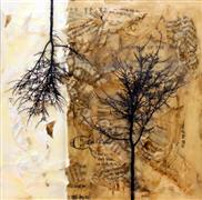 Nature art,Representational art,Vintage art,mixed media artwork,Grounded #24