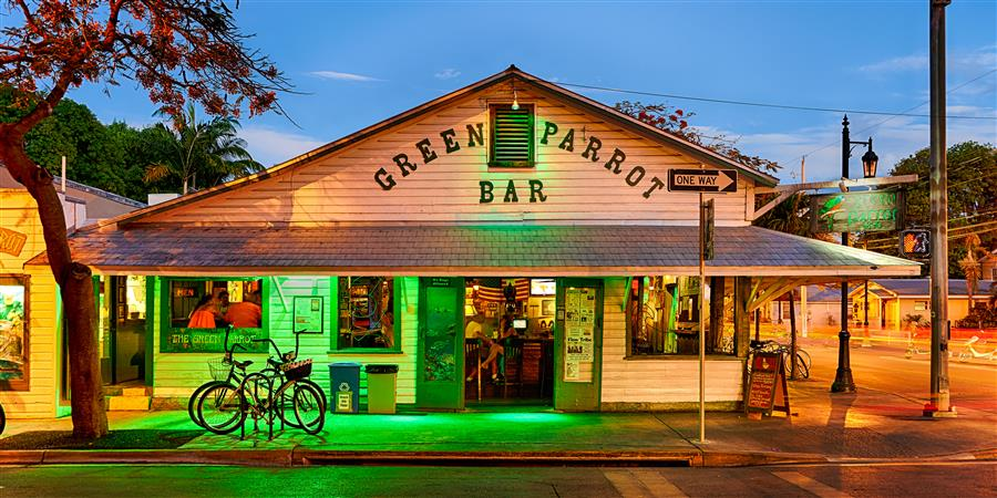 Discover Original Art by Mike Ring | Green Parrot Bar 2 photography | Art for Sale Online at UGallery