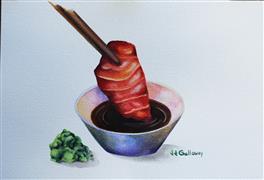 Pop art,Cuisine art,Realism art,Representational art,watercolor painting,Tuna