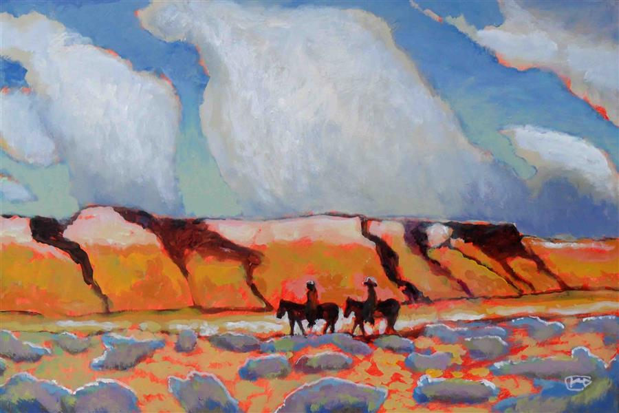 Discover Original Art by Kip Decker   Desert Travelers acrylic painting   Art for Sale Online at UGallery